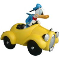 Donald Duck in Yellow Car